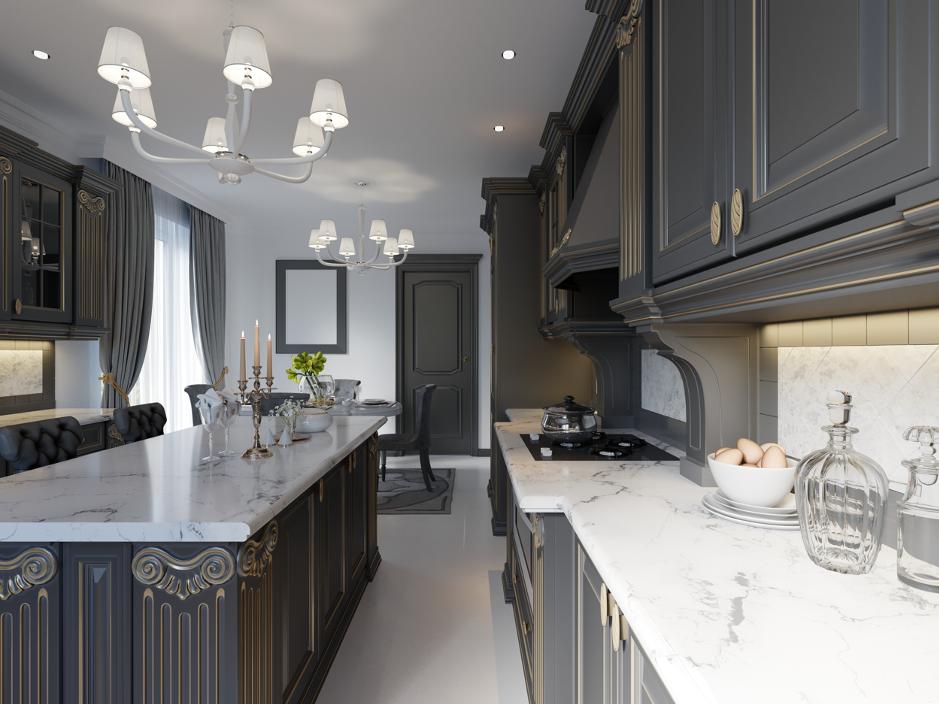 Hoffman Estates Kitchen Cabinet, Paint Kitchen Cabinets Dark Grey